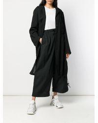 Y-3 クロップド ワイドパンツ Black