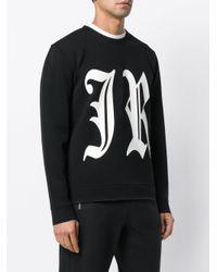 John Richmond Black Logo Print Sweatshirt for men