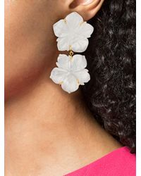 Lizzie Fortunato - White Reflection Earrings - Lyst