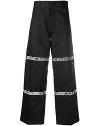メンズ Dickies Construct ロゴ ワイドパンツ Black