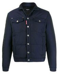 メンズ DSquared² パデッド シャツジャケット Blue