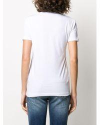 John Richmond スタッズ Vネック Tシャツ White