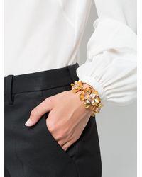 Oscar de la Renta | Multicolor Bold Flower Bracelet | Lyst