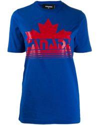 T-shirt Canada di DSquared² in Blue