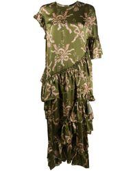 Vestito lungo asimmetrico di Simone Rocha in Green