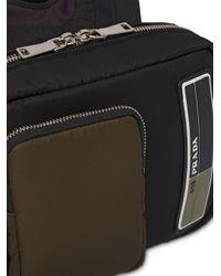 Sac à dos à patch logo Prada pour homme en coloris Black