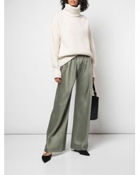 The Row Green Wide Leg Trousers