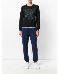KENZO - Blue Mini Tiger Track Pants for Men - Lyst
