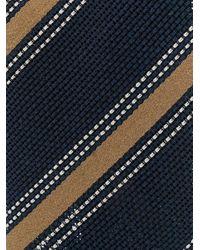 メンズ Lardini ストライプ ネクタイ Blue