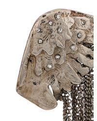 Boucles d'oreille pendantes à chaînes Ermanno Scervino en coloris Metallic