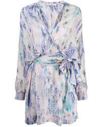 Robe Keita imprimée IRO en coloris Purple