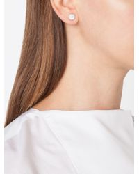 Pomellato Metallic Diamond Stud Earrings