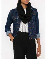 Cecilia Prado Black Maisa Knit Scarf