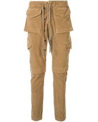 Pantalon cargo en velours côtelé Greg Lauren pour homme en coloris Brown
