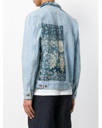 Veste ajustée à design patchwork Natural Selection pour homme en coloris Blue