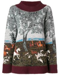 Antonio Marras - Gray Intarsia Sweater - Lyst