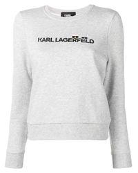 Karl Lagerfeld ロゴ スウェットシャツ Multicolor