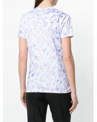 Roberto Cavalli White Watercolour Print T-shirt