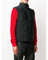 Стеганый Жилет С Нашивкой-логотипом Moncler для него, цвет: Black