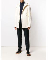 Abrigo con botones Herno de hombre de color White