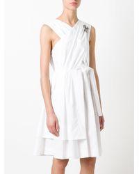 N°21 White Back Bow Flared Dress