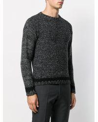 Contrast stripe sweater di Mp Massimo Piombo in Multicolor da Uomo
