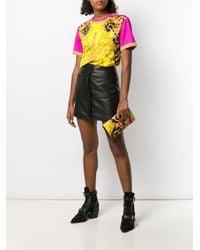 Versace バロックプリント クラッチバッグ Yellow