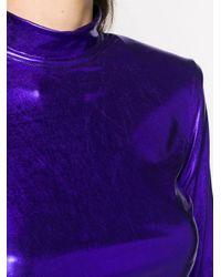 ANDAMANE ハイネック クロップドトップ Purple