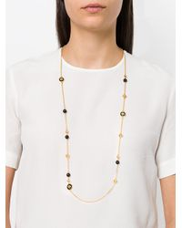 Tory Burch - Metallic Long Logo Necklace - Lyst
