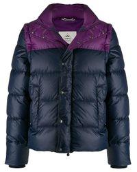 メンズ Pyrenex カラーブロック パデッドジャケット Blue