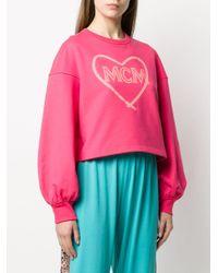 MCM ハートプリント スウェットシャツ Pink