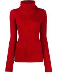 Slim-fit ribbed jumper di Pringle of Scotland in Red