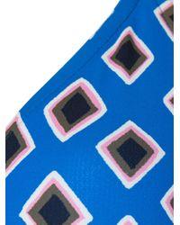 Tory Burch Blue Geometric print bikini top