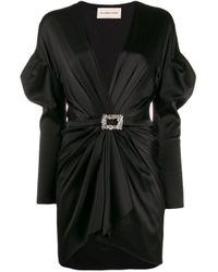 Vestito corto drappeggiato di Alexandre Vauthier in Black