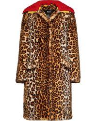 Miu Miu エコファーレオパード コート Multicolor
