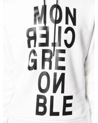 メンズ 3 MONCLER GRENOBLE ホワイト Maglia ロゴタイプ フーディ White