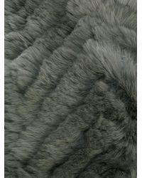 Yves Salomon - Gray Fur Stole - Lyst