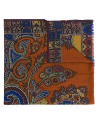 Écharpe à imprimé cachemire Etro pour homme en coloris Brown