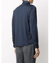 メンズ Dell'Oglio スプレッドカラー シャツ Blue