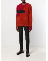 Maglione con design color-block di Neil Barrett in Red da Uomo