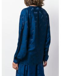 Stella McCartney Blue Bluse mit Pferde-Print