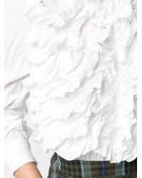 Comme des Garçons ラッフルパネル シャツ White