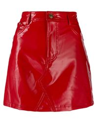Minigonna di Chiara Ferragni in Red