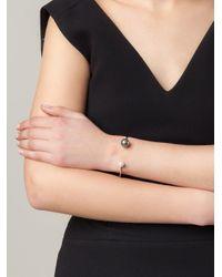 Delfina Delettrez Metallic 'pearl Piercing' Diamond Bracelet