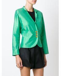 Dior プレオウンド サテンクロップドジャケット Green