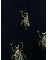 Chaussettes en maille à imprimé graphique Paul Smith pour homme en coloris Blue