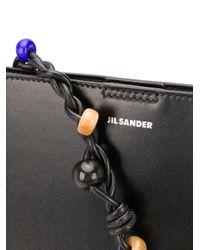 Borsa a spalla con decorazione di Jil Sander in Black