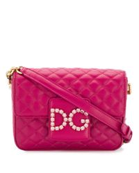 Dolce & Gabbana Purple Umhängetasche mit DG