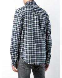 R13 Blue Checked Shirt for men