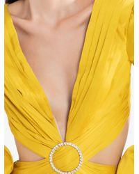 PATBO カットアウト ドレス Yellow